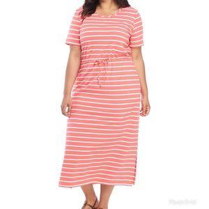 Kim Rogers Tie Waist Maxi Dress